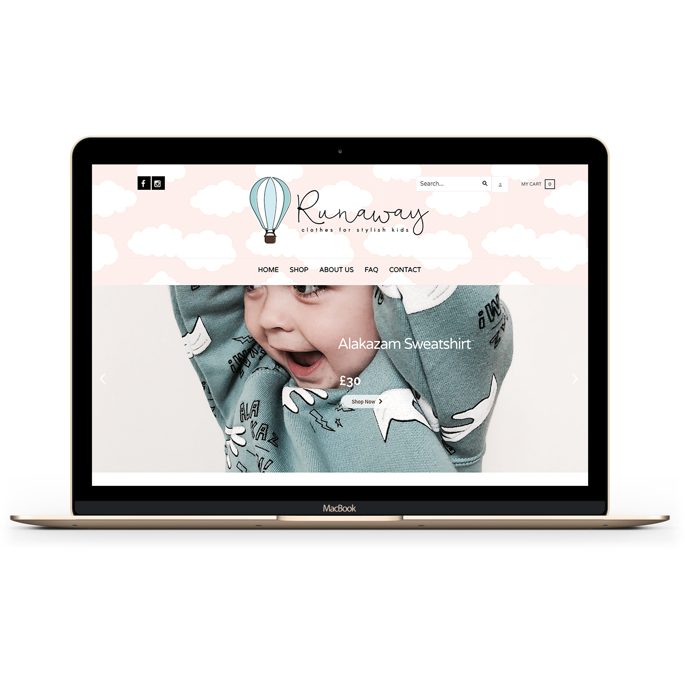Runaway Retail website image