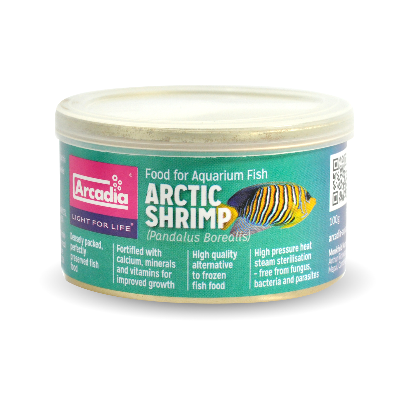 Arcadia Fish Food Tin image