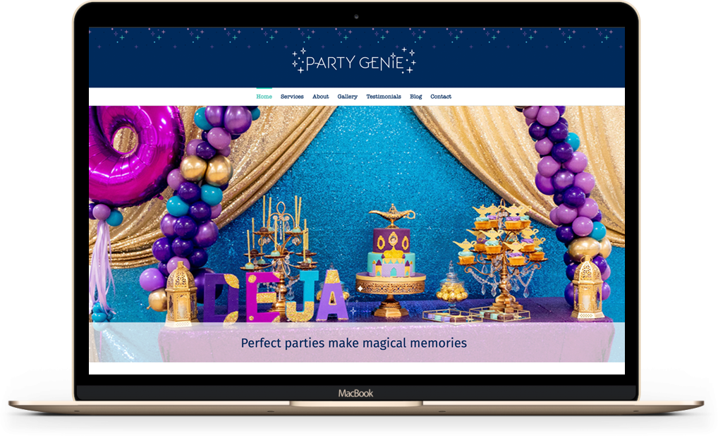 Party Genie website