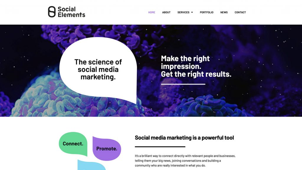 Social Elements home page