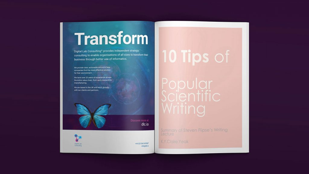 digital lab consulting advert in magazine